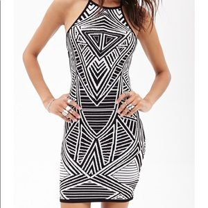 Forever 21 Geometric Abstract Dress